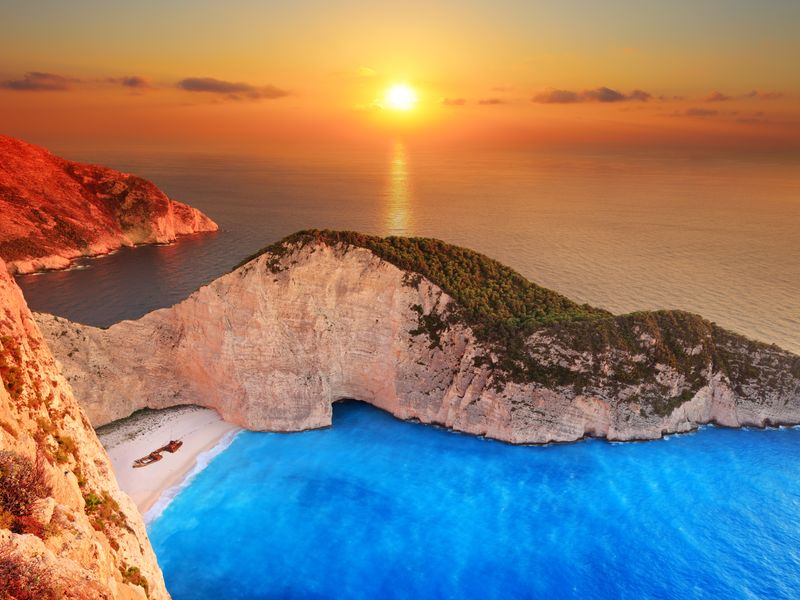 Navagio sunset
